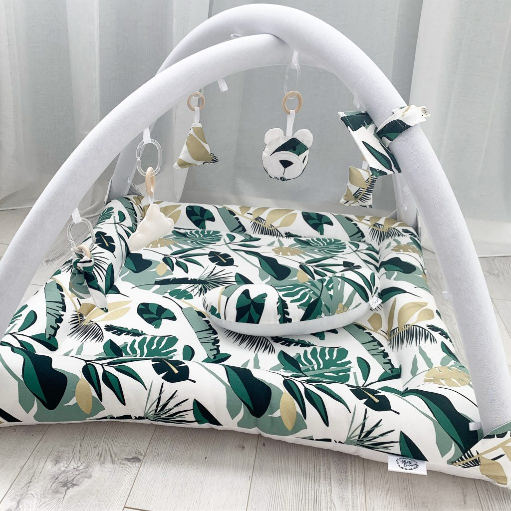 Activity playmat - tropical and gold