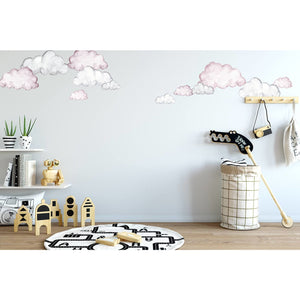 Dreamland Cloud in watercolour half - wall decals