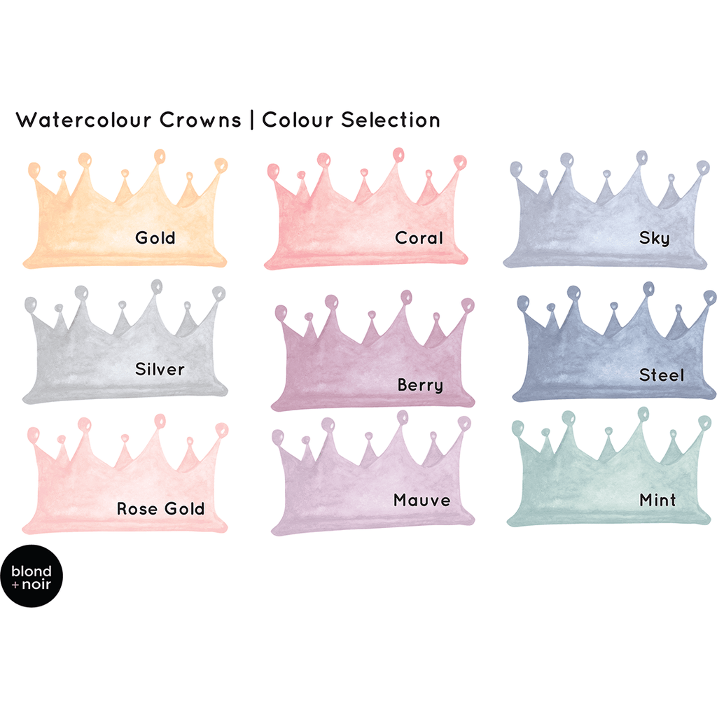 Crowns in watercolour - wall decals