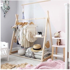 Fixed based clothing rack - Pink tips