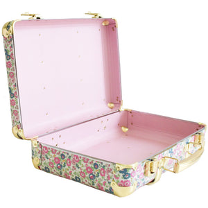 Mini vintage brief case - Petit floral