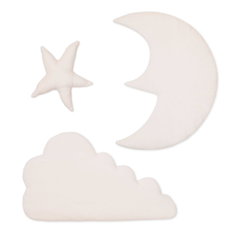 Cam cam Moon, star, cloud - wall decor, rose