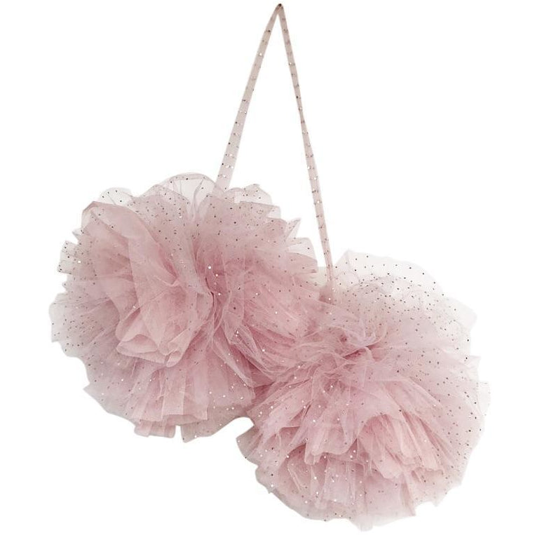 Giant Sparkly Pom garland - Light Pink