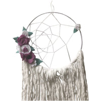 Medium Dream Catcher - felt flowers