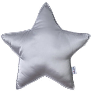 Star pillow charmeuse silver