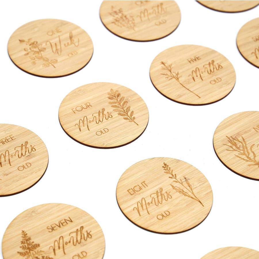 Wild leaf milestone cards - set of 14