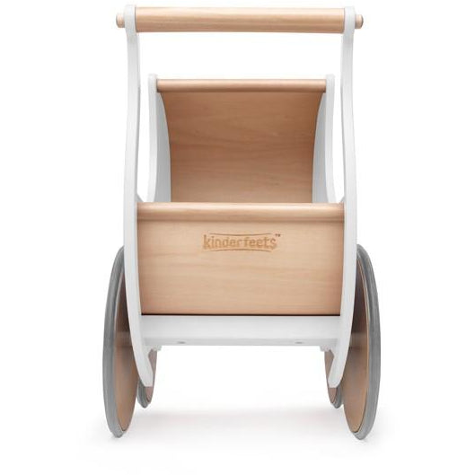 Wooden walker/pram - white