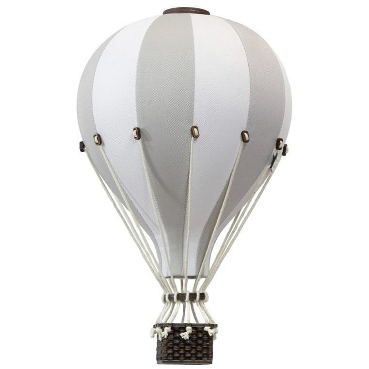 Decorative Hot Air Balloon, large - Light grey