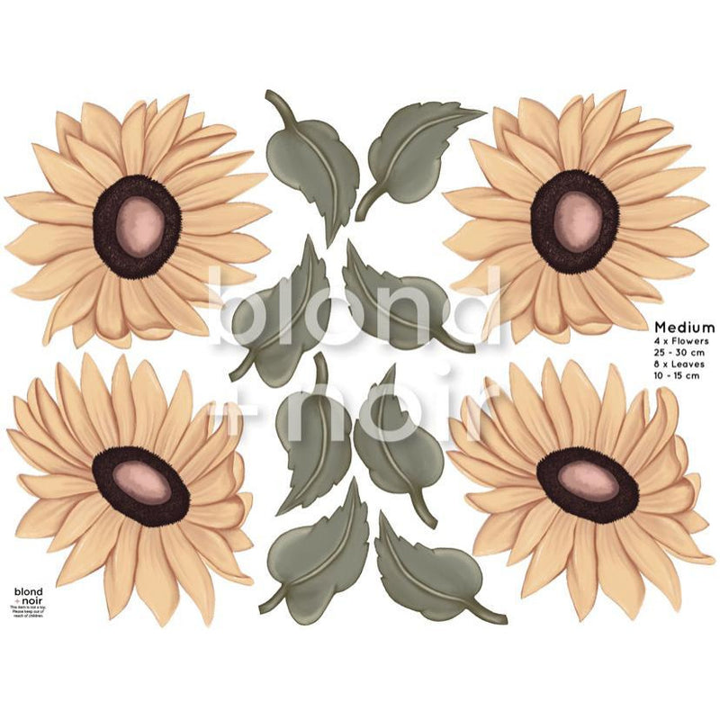 Milla's Sunflowers Medium - wall decals