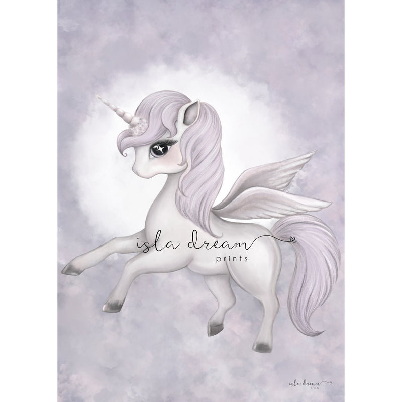 Wall Print  - Scarlett the Pegasus (A4)