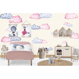Dreamland Cloud in watercolour full - wall decals