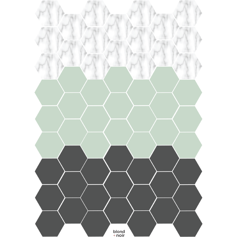 Same size Hexagons, small - wall decals