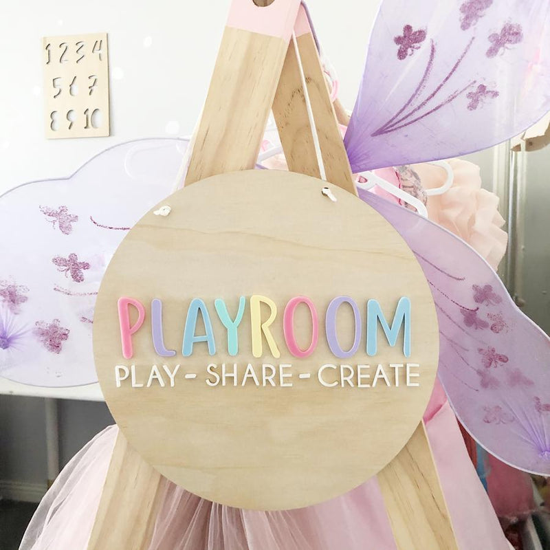 'Playroom' wall hanging