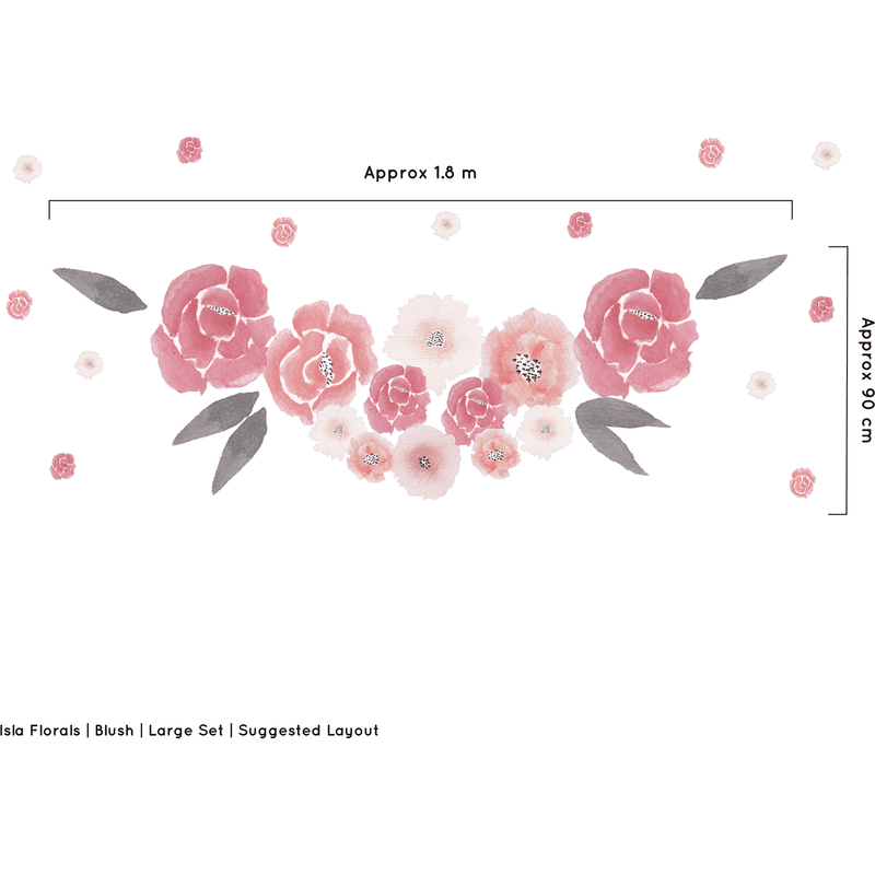 Isla Florals large full - wall decals