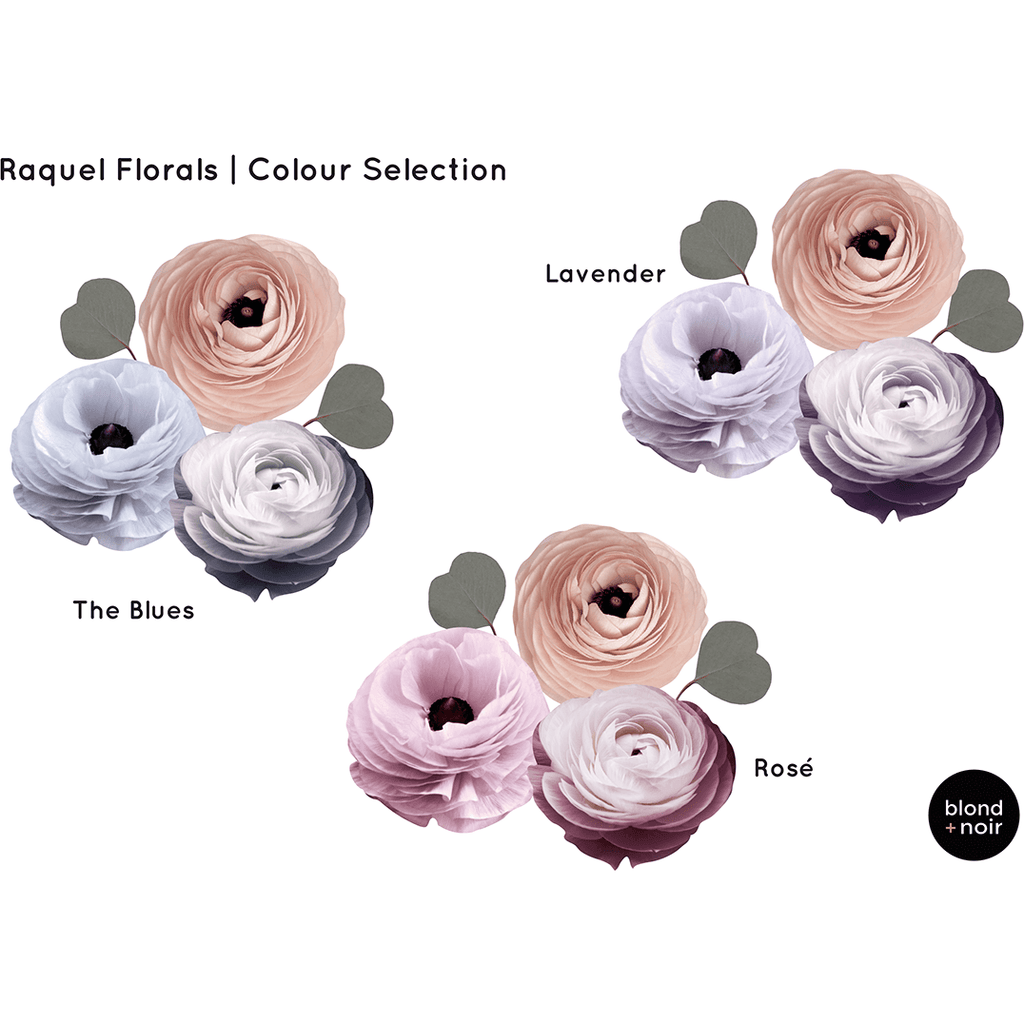Raquel Florals Medium - wall decals