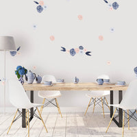Isla Florals small full - wall decals