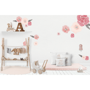 Isla Florals large half - wall decals