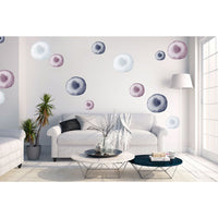 Watercolour bubbles large - wall decals