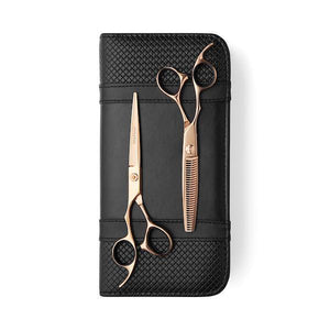 5.5 Inch Cutting Scissor Lefty Matsui Aichei Mountain Rose Gold Scissor Thinner Combo - Scissor Tech Canada