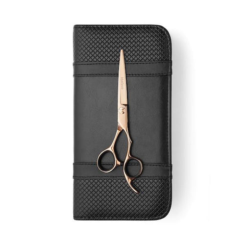 5.5 Inch Cutting Scissor Matsui Rose Gold Aichei Mountain Offset Shear - Scissor Tech Canada