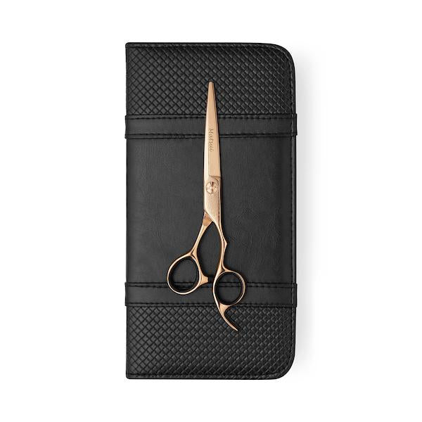 2020 Matsui Rose Gold Damascus Offset Scissor - Scissor Tech Canada