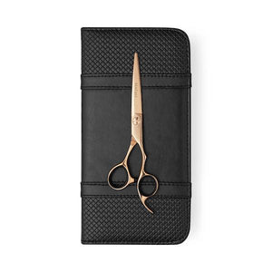 2019 Matsui Rose Gold Damascus Offset Scissor - Scissor Tech Canada