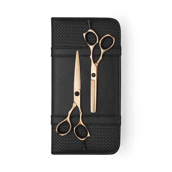 5.5 Inch Matsui Precision Rose Gold shear & Thinner Combo - Scissor Tech Canada