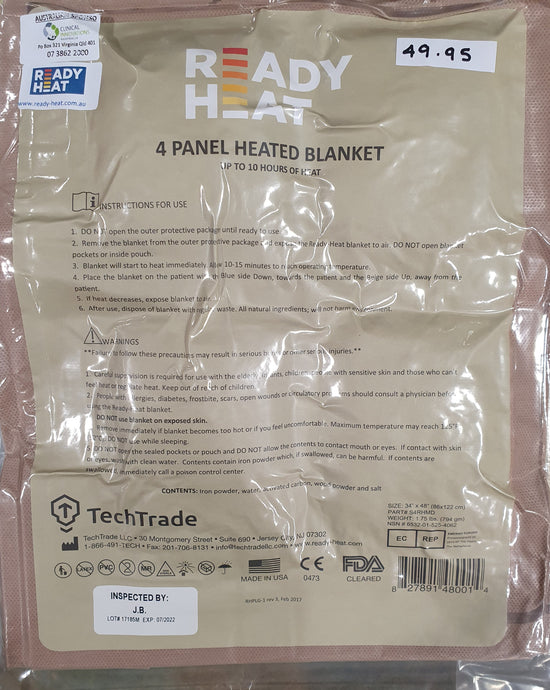 Ready-Heat 4 Panel Heated Blanket