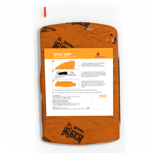 RescueMED Orange Blizzard EMS Trauma Blanket