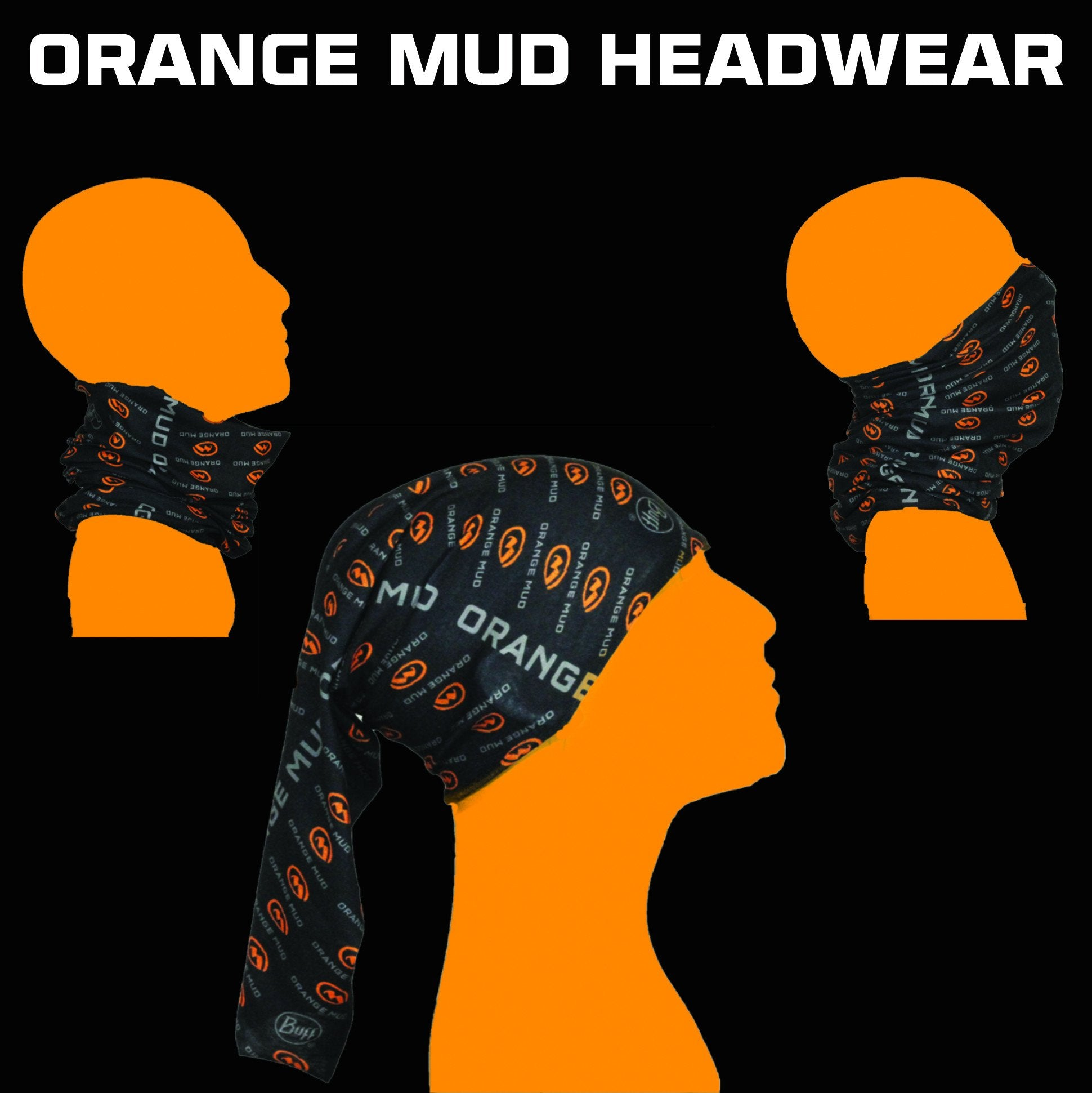 Orange Mud Headwear Headband Buff Tubie