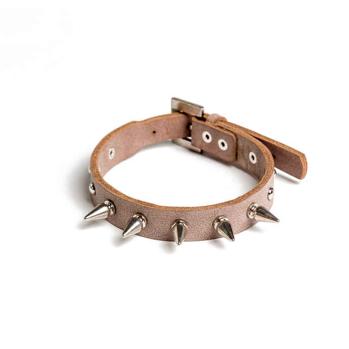 Spike Up Your Life Choker - Ivory