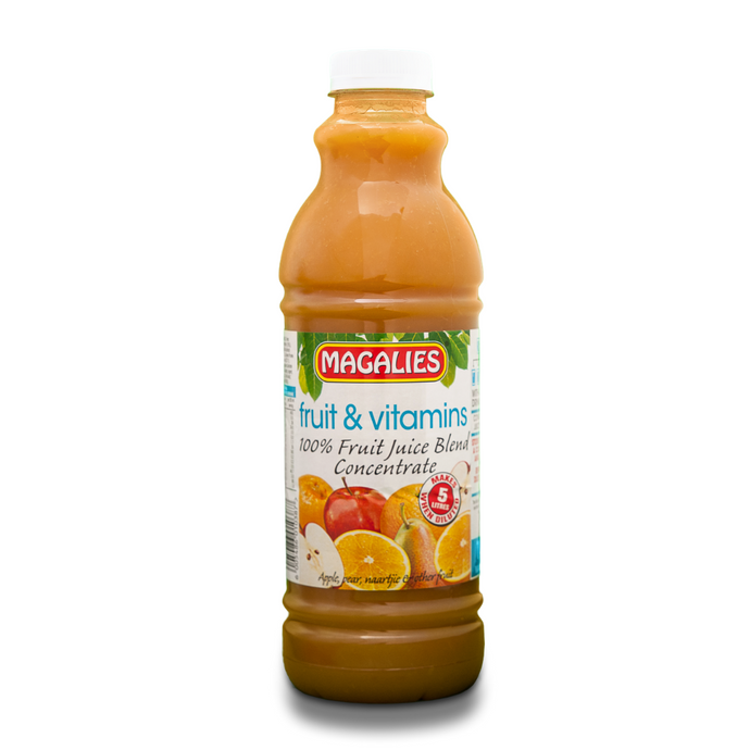 Magalies 1 litre Fruit & Vitamins 100% 1+4 fruit juice concentrate