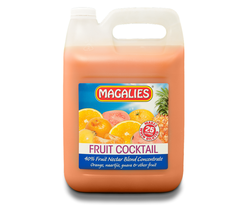 Magalies 5 litre Fruit Cocktail 40% 1+4 fruit nectar concentrate.