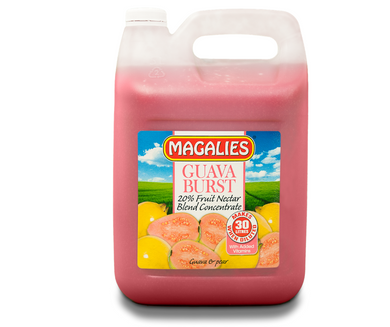Magalies 5 litre Guava Burst 20% 1+5 fruit nectar concentrate.