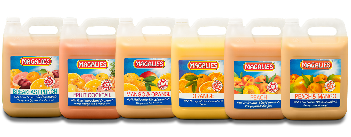 Magalies 5 litre 1+4 Nectar concentrate BUNDLE OF 6