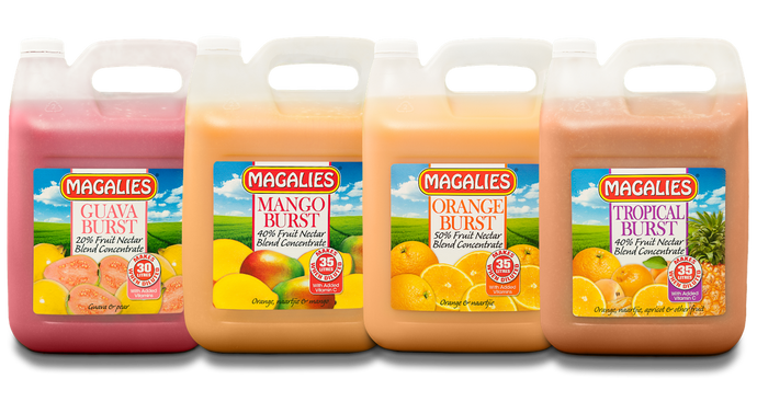 Magalies 5 litre Burst Nectar concentrate BUNDLE OF 4