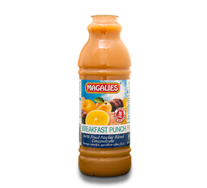 Magalies 1 litre Breakfast Punch 40% 1+4 fruit nectar concentrate
