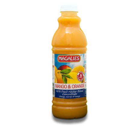 Magalies 1 litre Mango & Orange 40% 1+4 fruit nectar concentrate