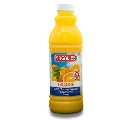 Magalies 1 litre Orange 50% 1+4 fruit nectar concentrate