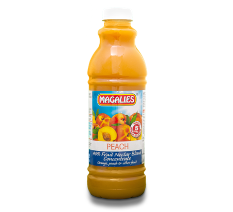 Magalies 1 litre Peach 48% 1+4 fruit nectar concentrate
