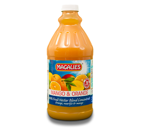 Magalies 2 litre Mango & Orange 40% 1+4 fruit nectar concentrate