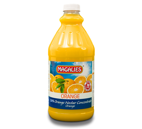 Magalies 2 litre Orange 50% 1+4 fruit nectar concentrate