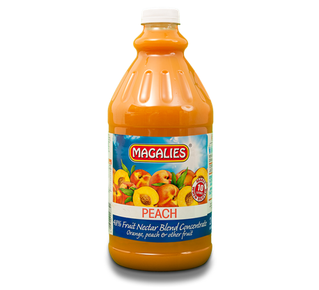 Magalies 2 litre Peach 48% 1+4 fruit nectar concentrate