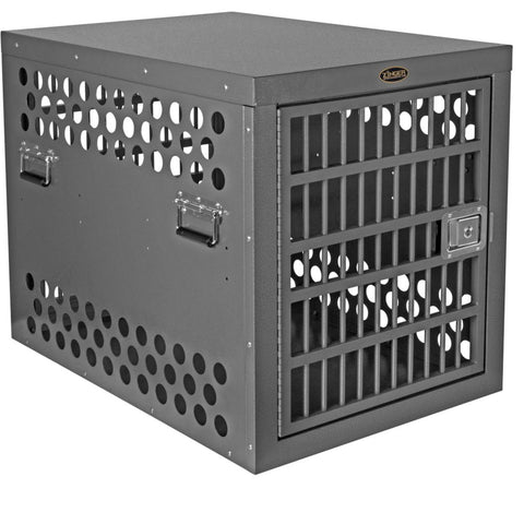 Zinger Professional Double Door Dog Crate with Front and Back Entry