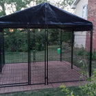 Lucky Dog Modular Box Kennel with Roof and Cover 10'x10'