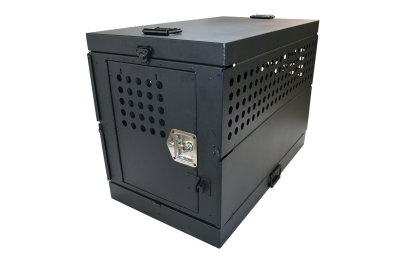 Owens XL COLLAPSIBLE WORKING DOG CRATE / SINGLE COMPARTMENT / 22.25 W X 41 D X 29 H / MILL FINISH ALUMINUM