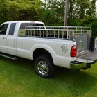 OWENS FULL BED WITH CROSSOVER STORAGE / 8 FOOT BED / 67 W X 90.125 D X 34.75 H / ALUMINUM TUBING / DIAMOND TREAD ALUMINUM