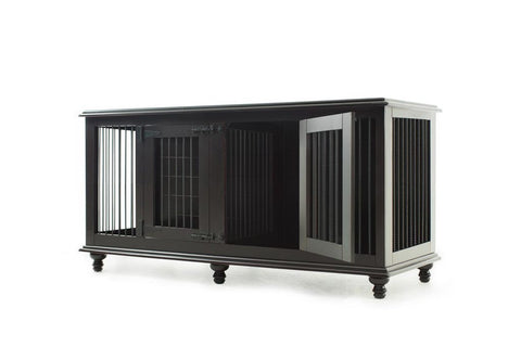 Rathman & Co Double Doggie Den in Espresso