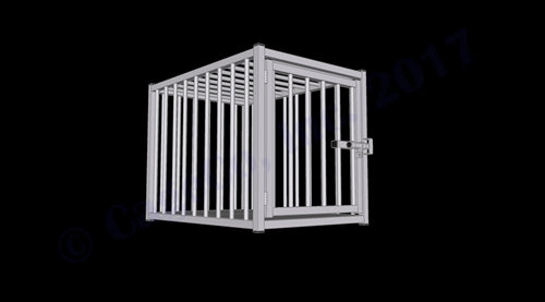 "Rhino Kennels European Style Dog Crate 39""D x 27""W x 30""H"