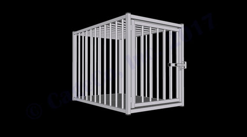 "Rhino Kennels European Style Dog Crate 47""D x 31""W x 36""H"